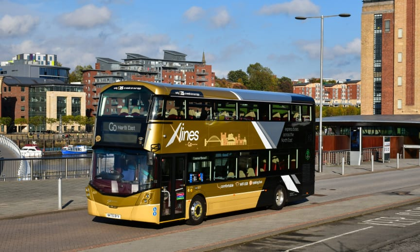 Go North East trials UK's first 6-cylinder bus as part of £5million investment