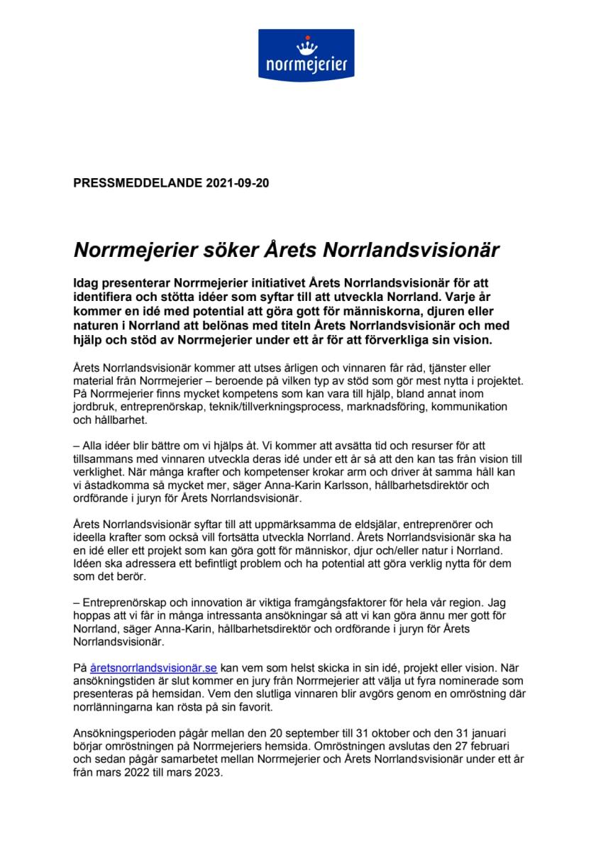 Årets Norrlandsvisionär
