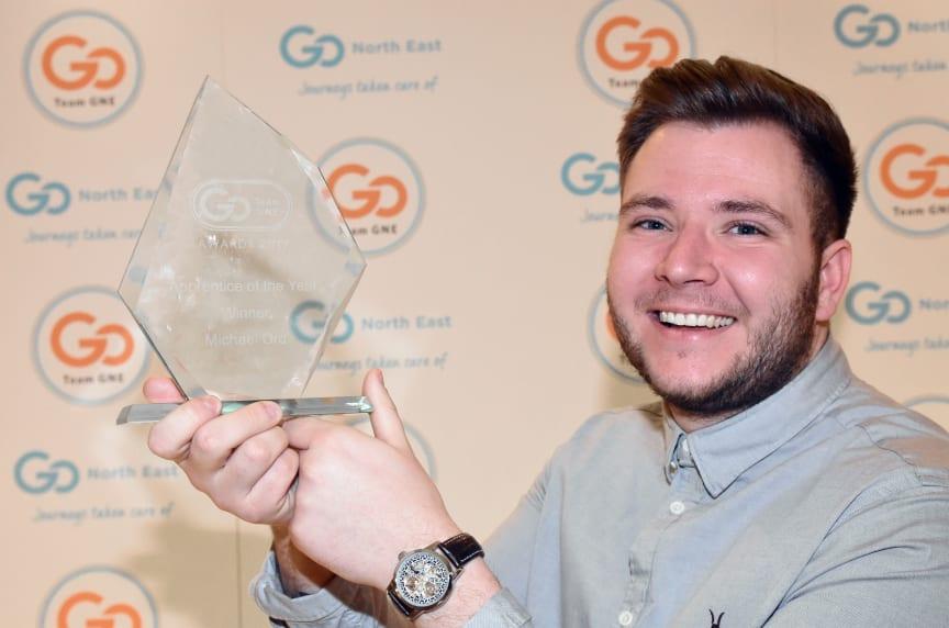 Apprentice of the Year winner Michael Ord