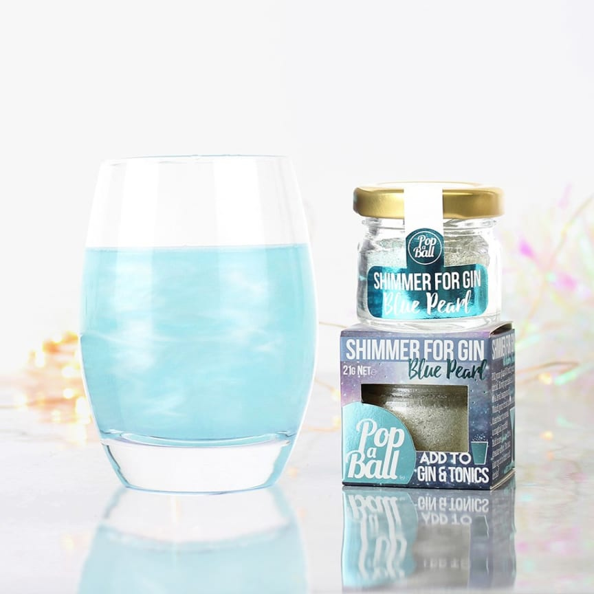 Drinkglitter - Blått glitterpulver med blåbärssmak