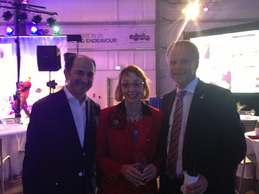 Ottonel Popesco, Geraldine Knatz and Jens Meier at the IAPH 2013 28th World Ports Conference