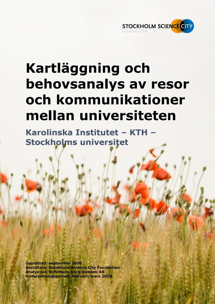 Kartläggning och behovsanalys av resor och kommunikationer mellan universiteten