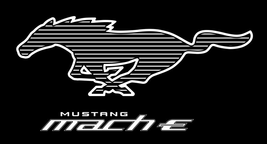 Mustang Mach-E Pony White Stripe