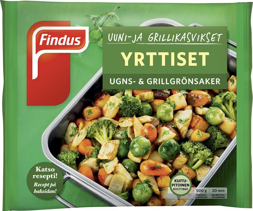 Uuni- ja grillikasvikset Yrttiset 500g