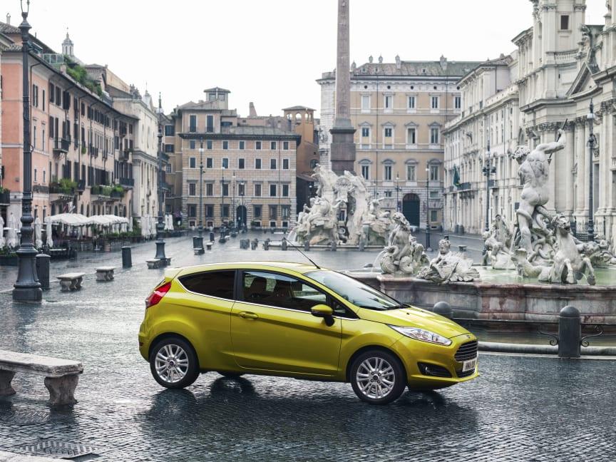 Nye Ford Fiesta nylig tildelt 5 stjerner i Euro NCAP test