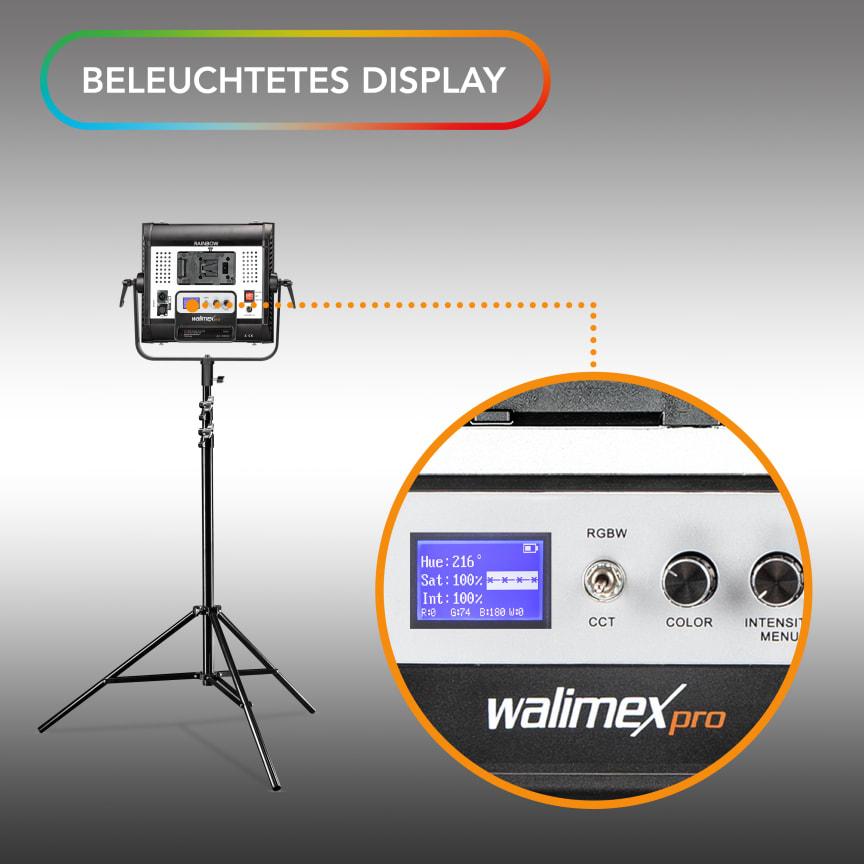 Walimex pro Rainbow RGBWW 50_100W 23034 23035 17 Display