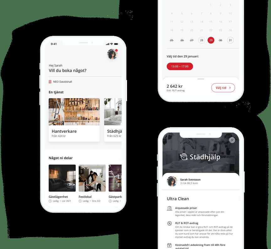 Riksbyggens app Hemshare