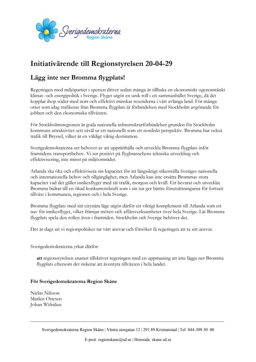 210423 RS Initiativärende stäng inte Bromma flygplats.pdf