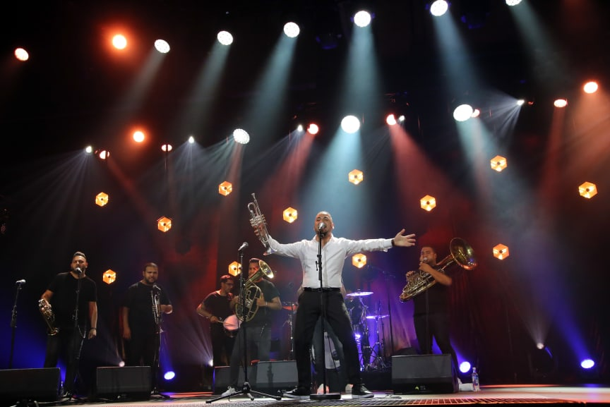 Marko Markovic Brass Band imponerte alle på Førdefestivalen.