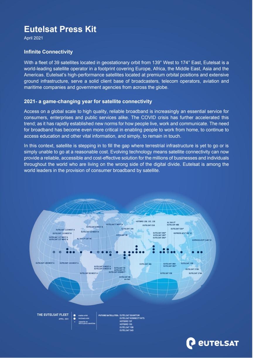 Eutelsat press kit: April 2021
