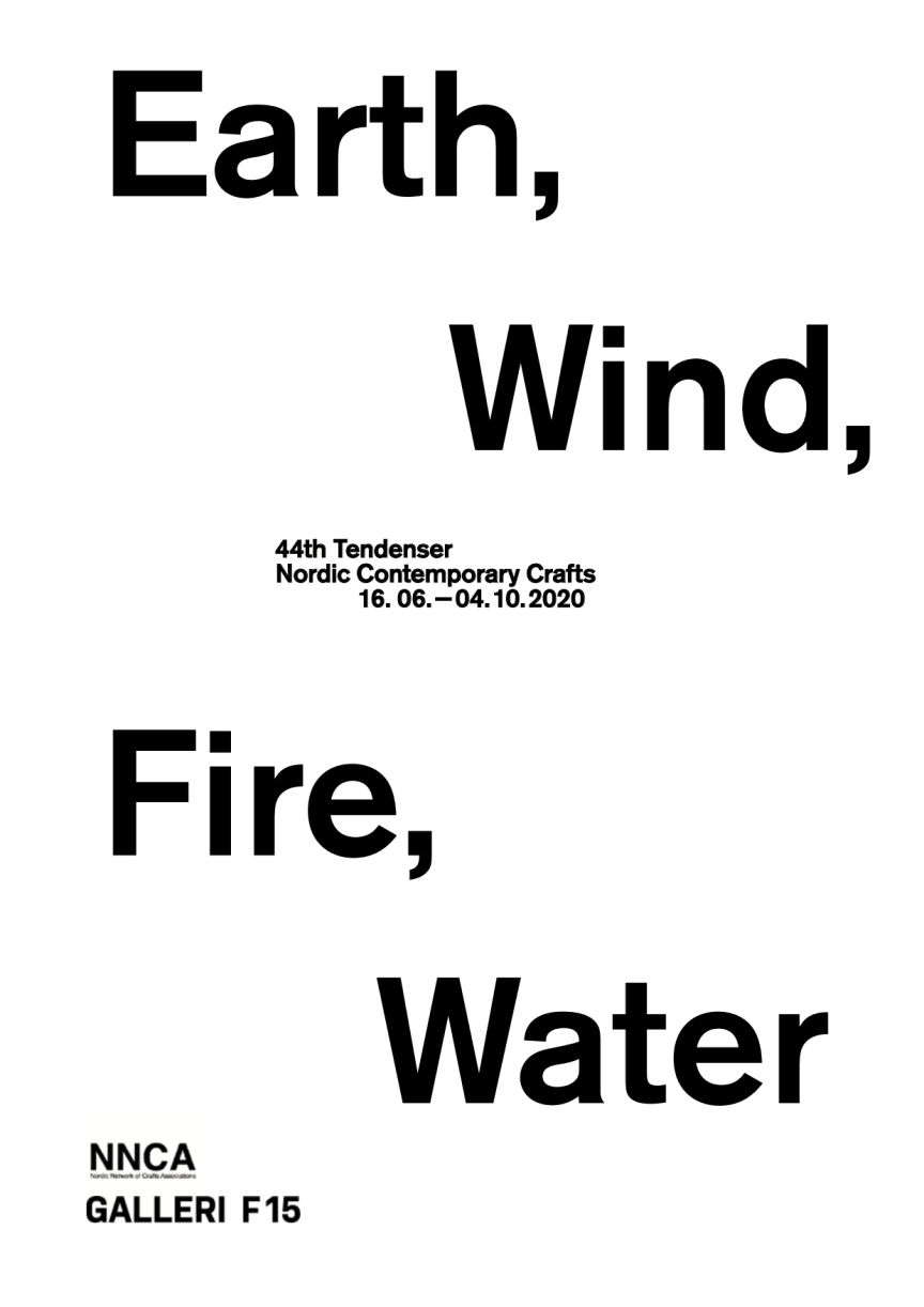 Earth, Wind, Fire, Water - Nordic Contemporary Crafts, 44th Tendenser opens at Galleri F 15