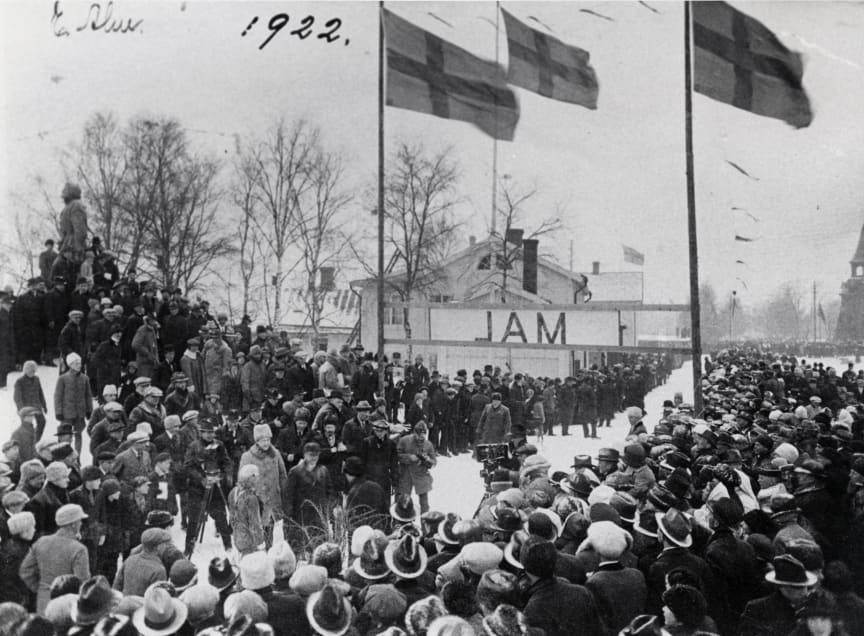 Bild från Vasaloppsmålet 1922