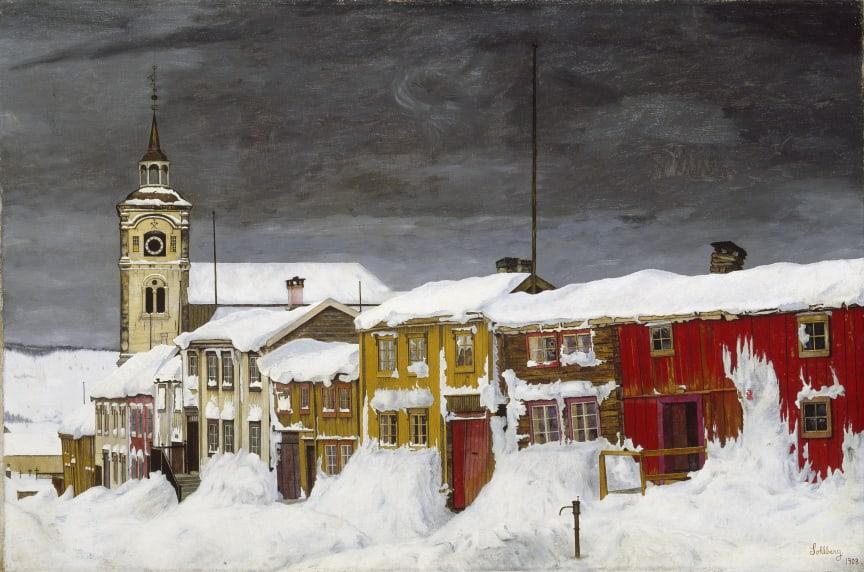 Harald Sohlberg, Gate i Røros, 1903. Foto: Nasjonalmuseet