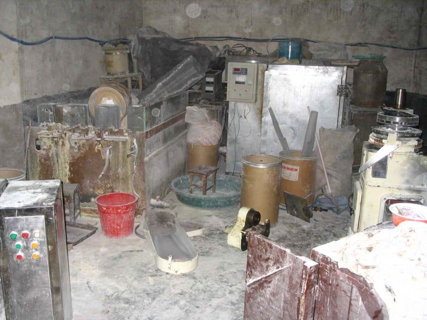 Lokal i Kina där förfalskad Viagra tillverkas