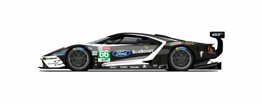 Ford hylder Le Mans-sejre med unikke Ford GT-design