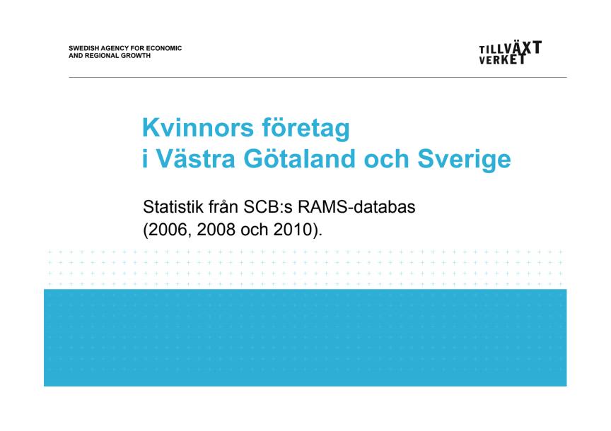 Kvinnors företag, Västra Götaland