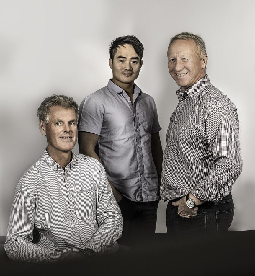 Einar Thorén, Thaison Vu og Terje Gravdal