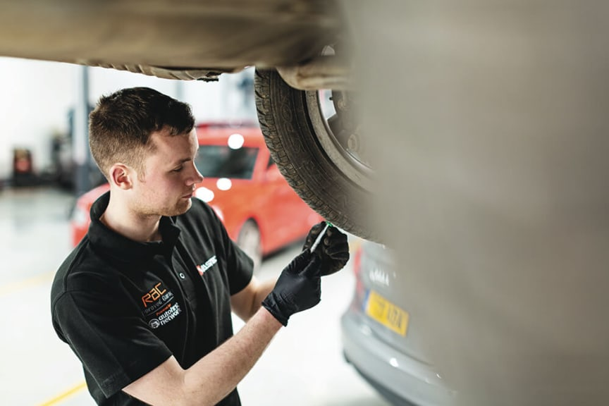 Technician at an RAC Approved Garage