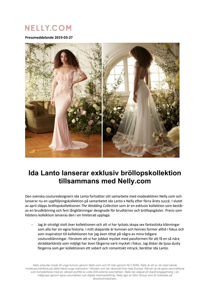 Ida Lanto lanserar exklusiv bröllopskollektion tillsammans med Nelly.com