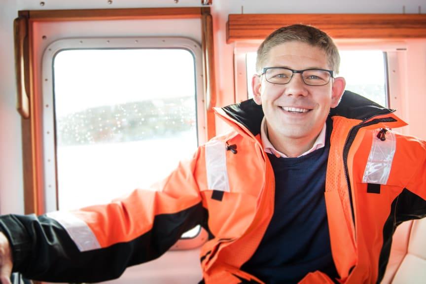 Daglig leder Lars Måsøval i Måsøval Fiskeoppdrett
