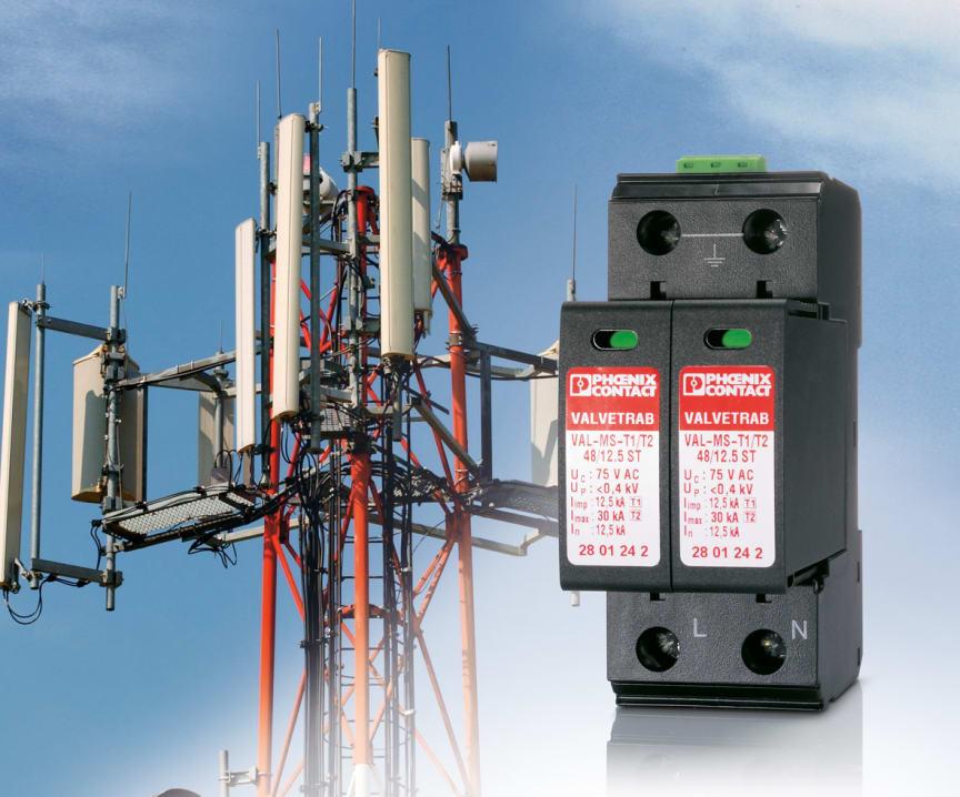 UL-godkendt overspændingsbeskyttelse til mobile trådløse systemer