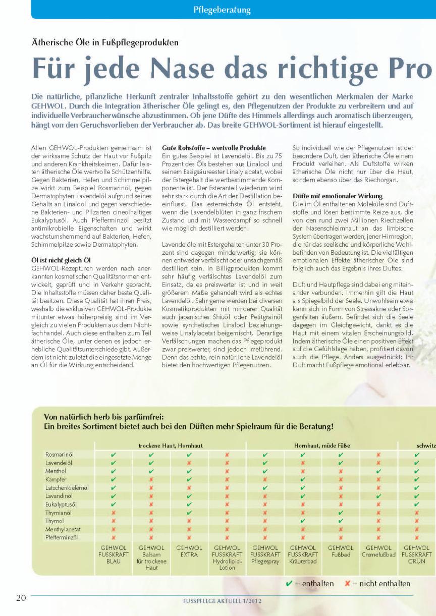 Ätherische Öle in Fußpflegeprodukten: Für jede Nase das richtige Produkten