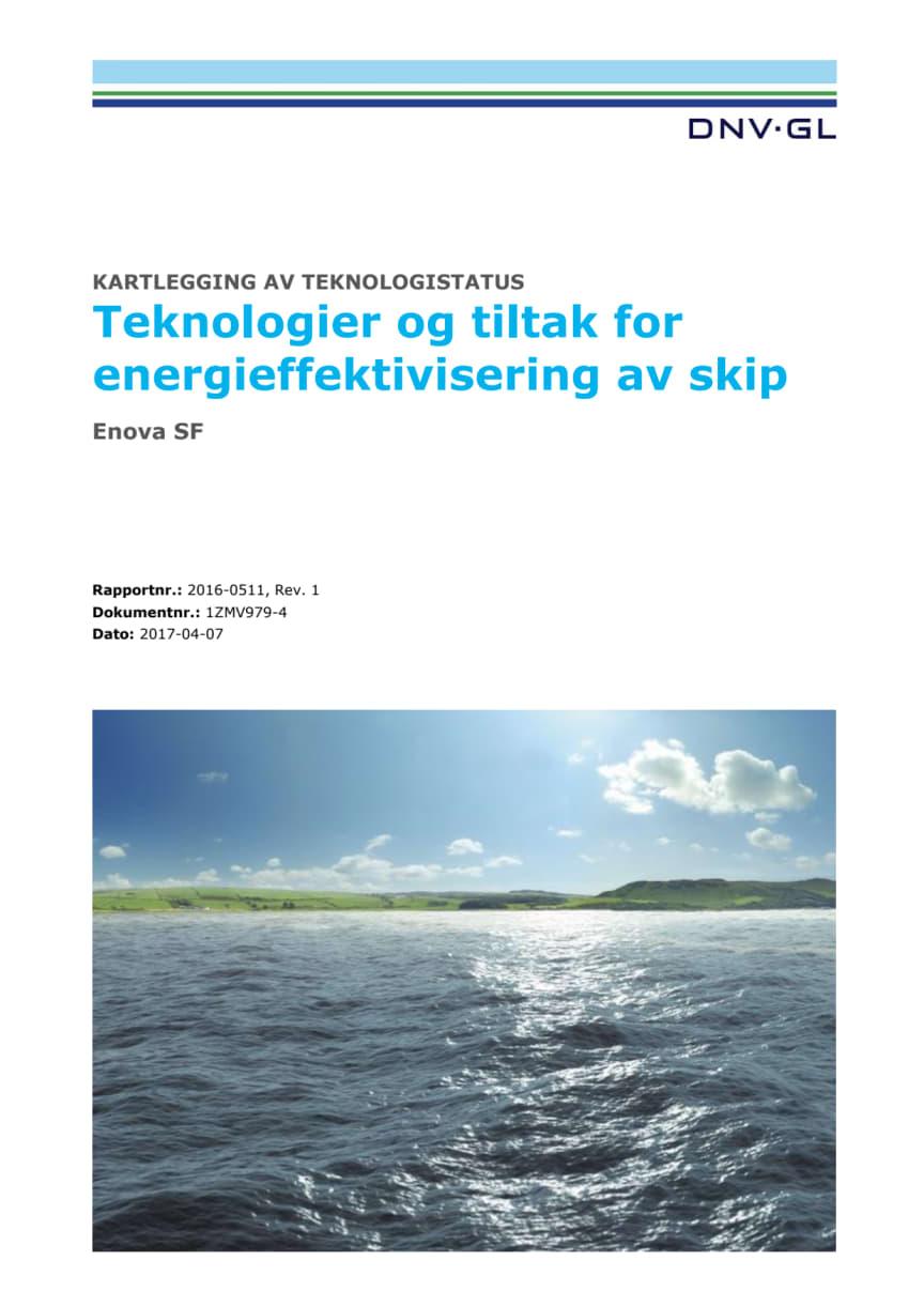 Rapport: Teknologier og tiltak for energieffektivisering av skip