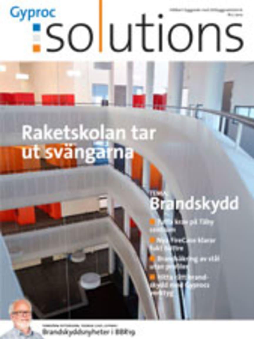 Kundtidning Gyproc Solutions - tidningen för hållbart byggande med lättbyggnadsteknik