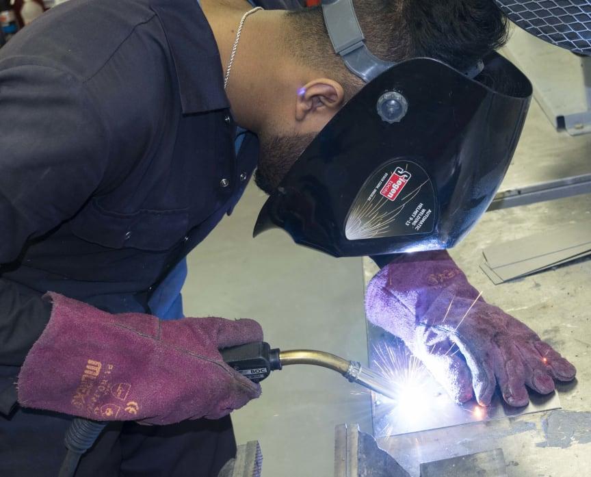 Apprentices in Action - butt welding