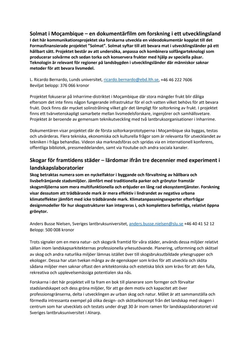 Kommunikationsprojekt sammanfattning våren 2017