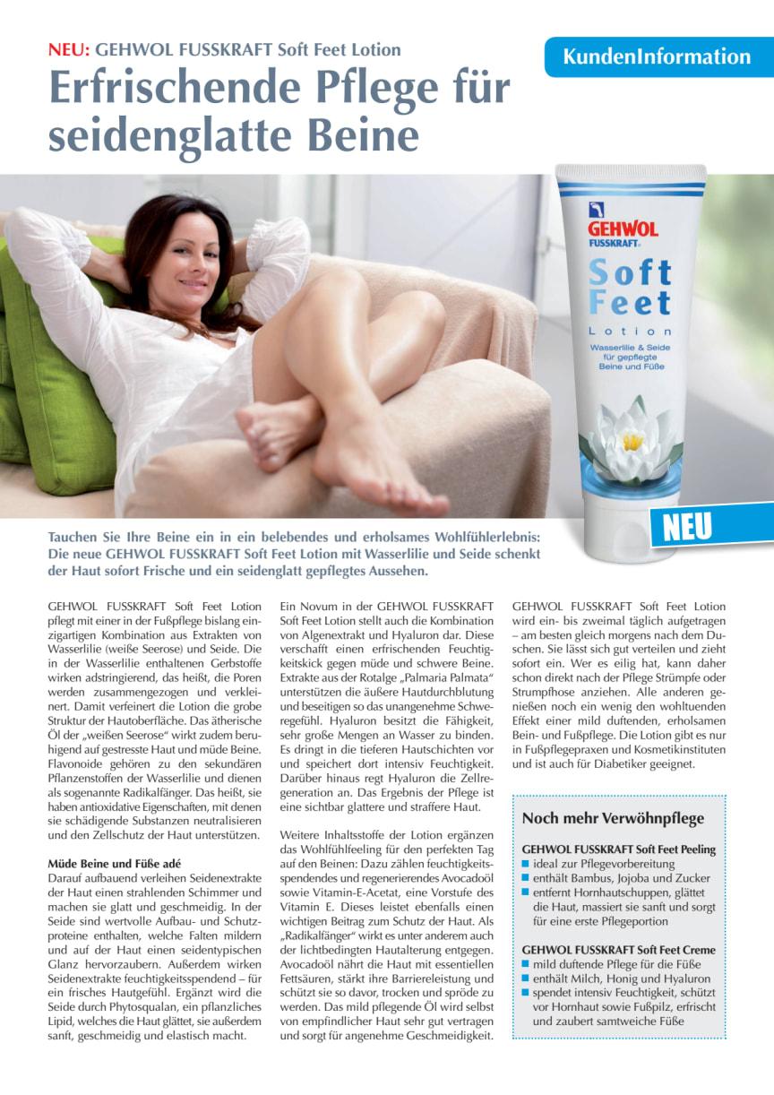GEHWOL FUSSKRAFT Soft Feet Lotion: Erfrischende Pflege für seidenglatte Beine