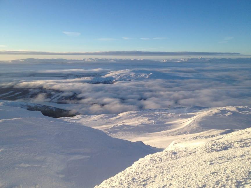 Vintervy från Åreskutan