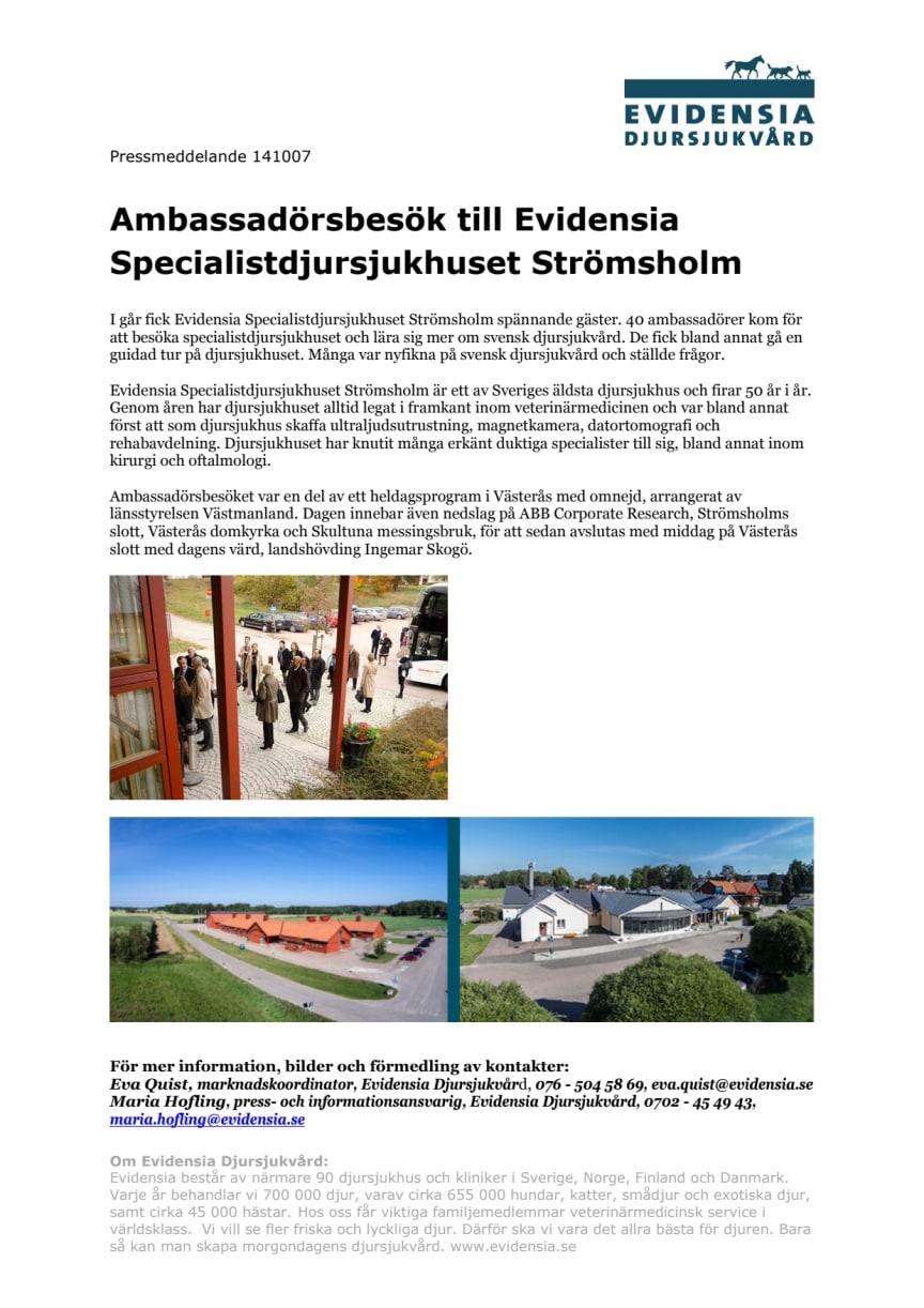 Utländska ambassadörer fick lära sig mer om svensk djursjukvård