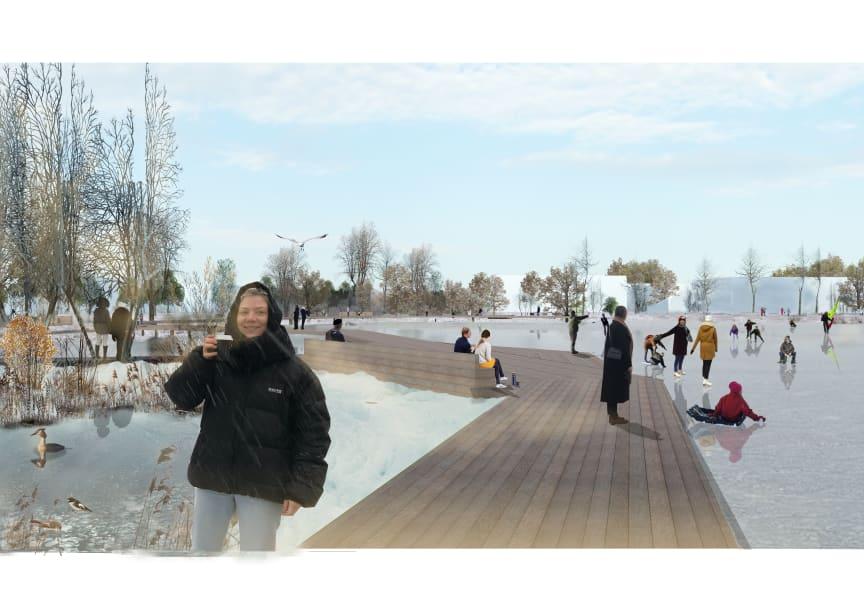 Dagvattenpark (Illustration: 02Landskap)