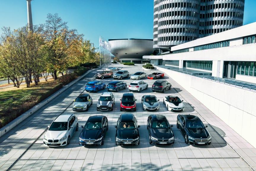 BMW Groups mange elektrifiserte modeller