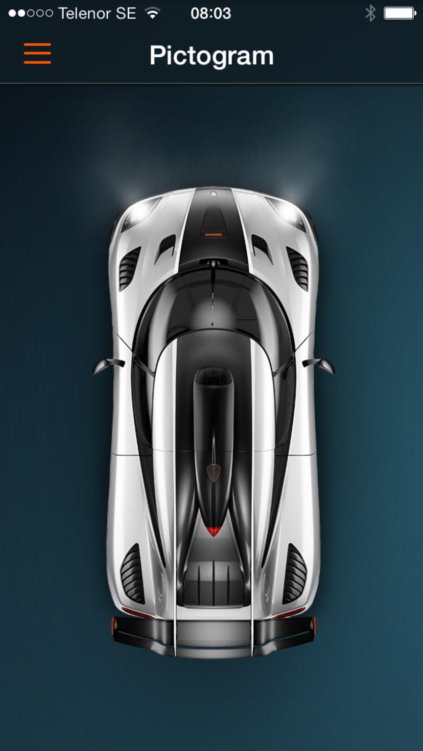 Koenigsegg One:1 app Pictogram