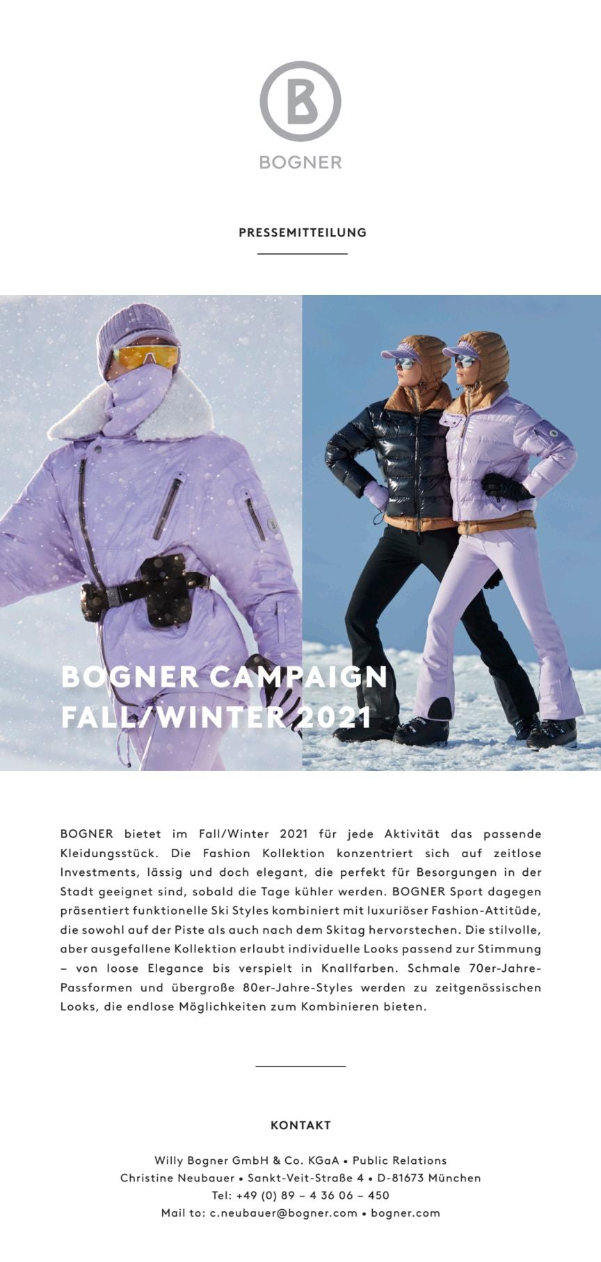 BOGNER Campaign Fall/Winter 2021