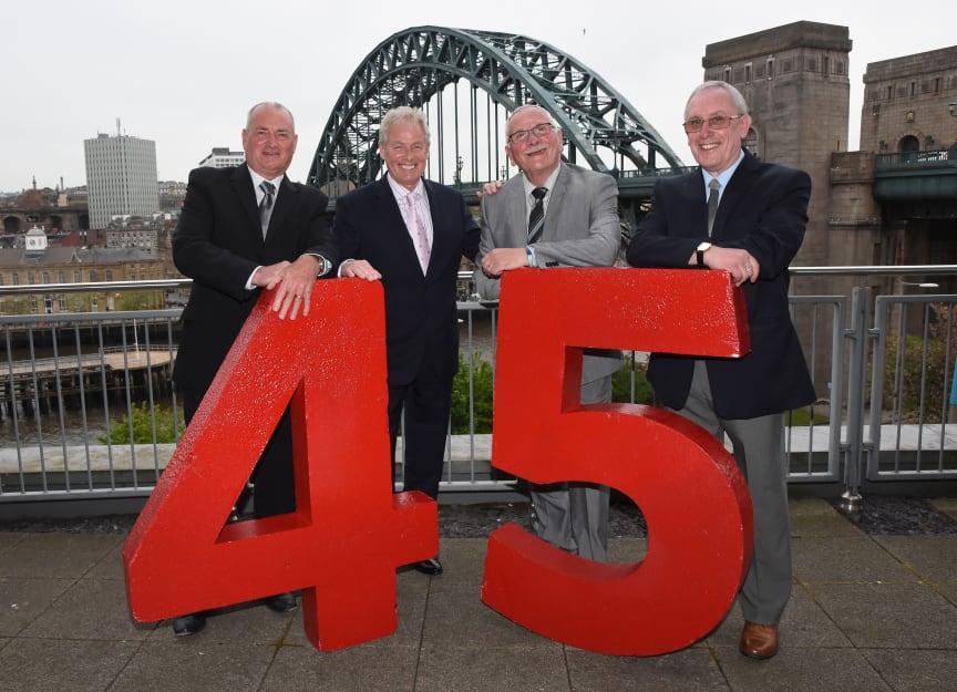 L-R Alan Hermiston, Kevin Carr, Eric Hardy and Geoff Thompson