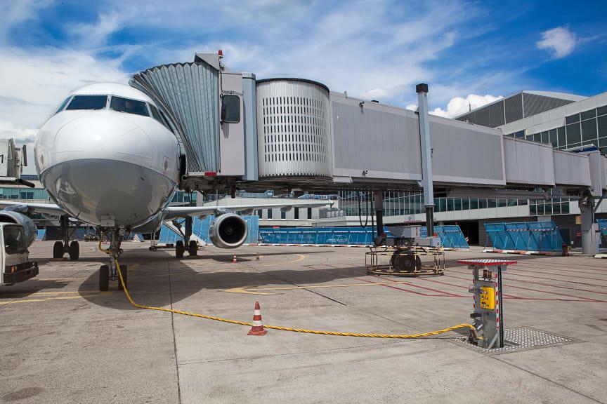 Cavotec ground support equipment at Frankfurt Airport