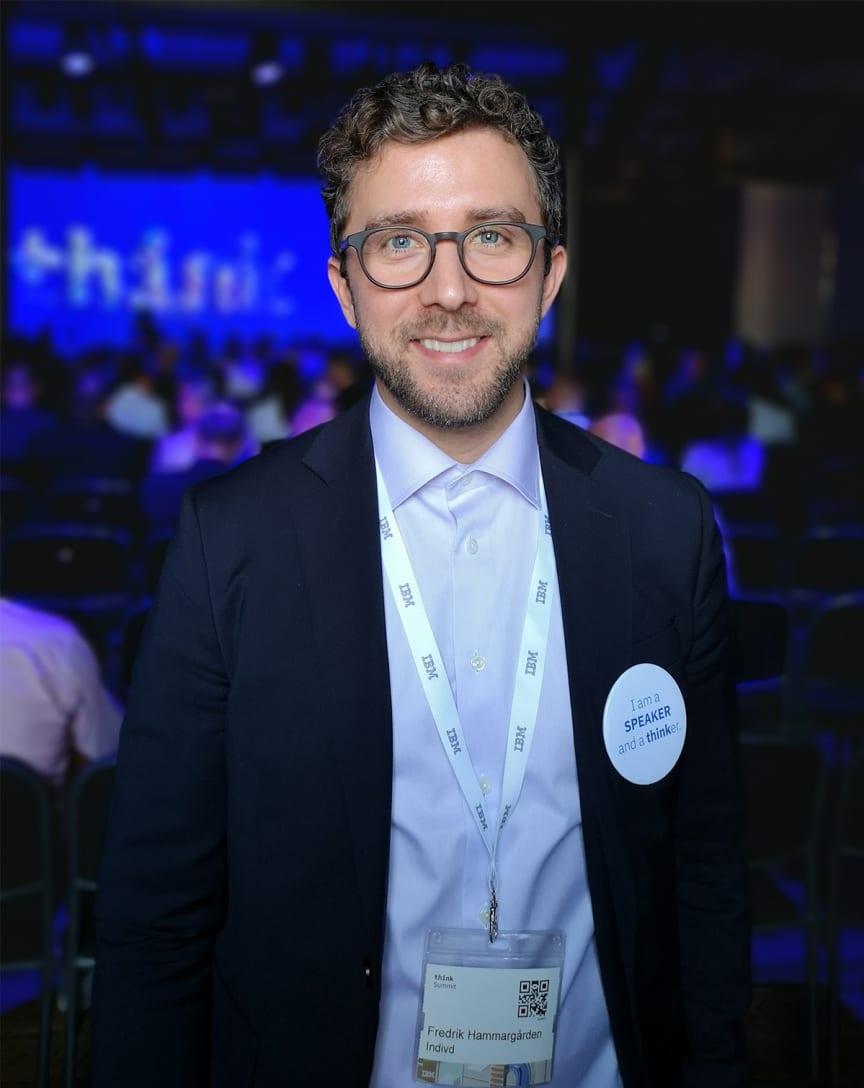 Fredrik Hammargården, Indivd, på IBM Think Summit 2019