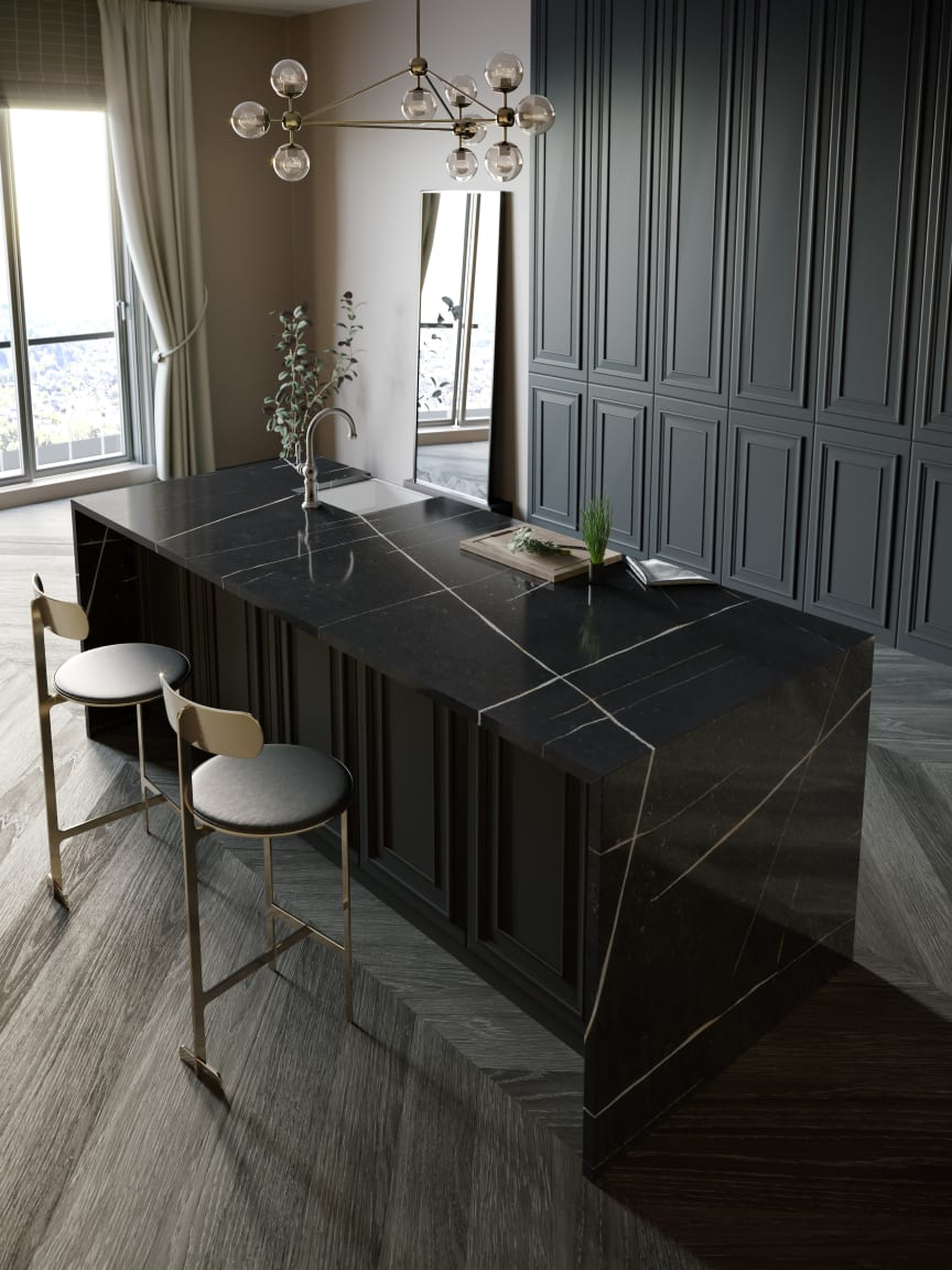 Silestone Kitchen - Eternal Noir