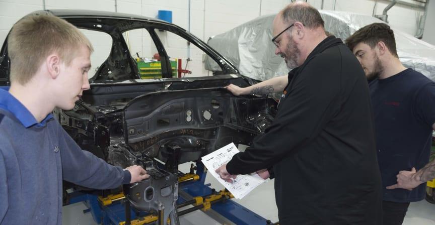 Apprentices in Action - jig work