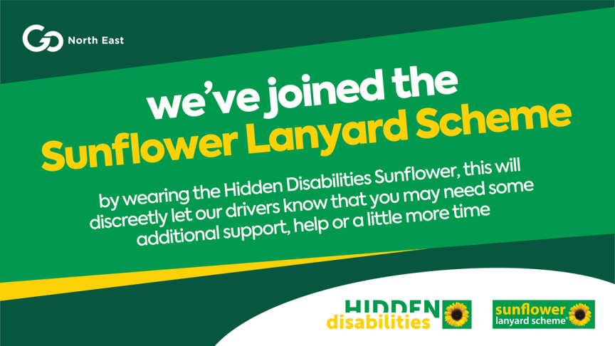 Go North East adopts the sunflower lanyard scheme to help customers with hidden disabilities