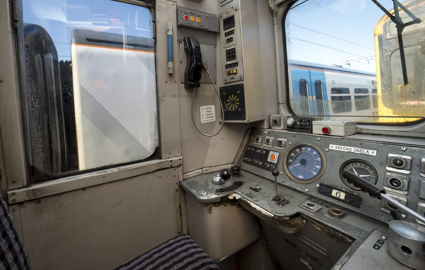 Old Moorgate train - cab