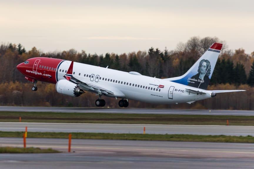 Norwegianin Boeing 737 MAX 8