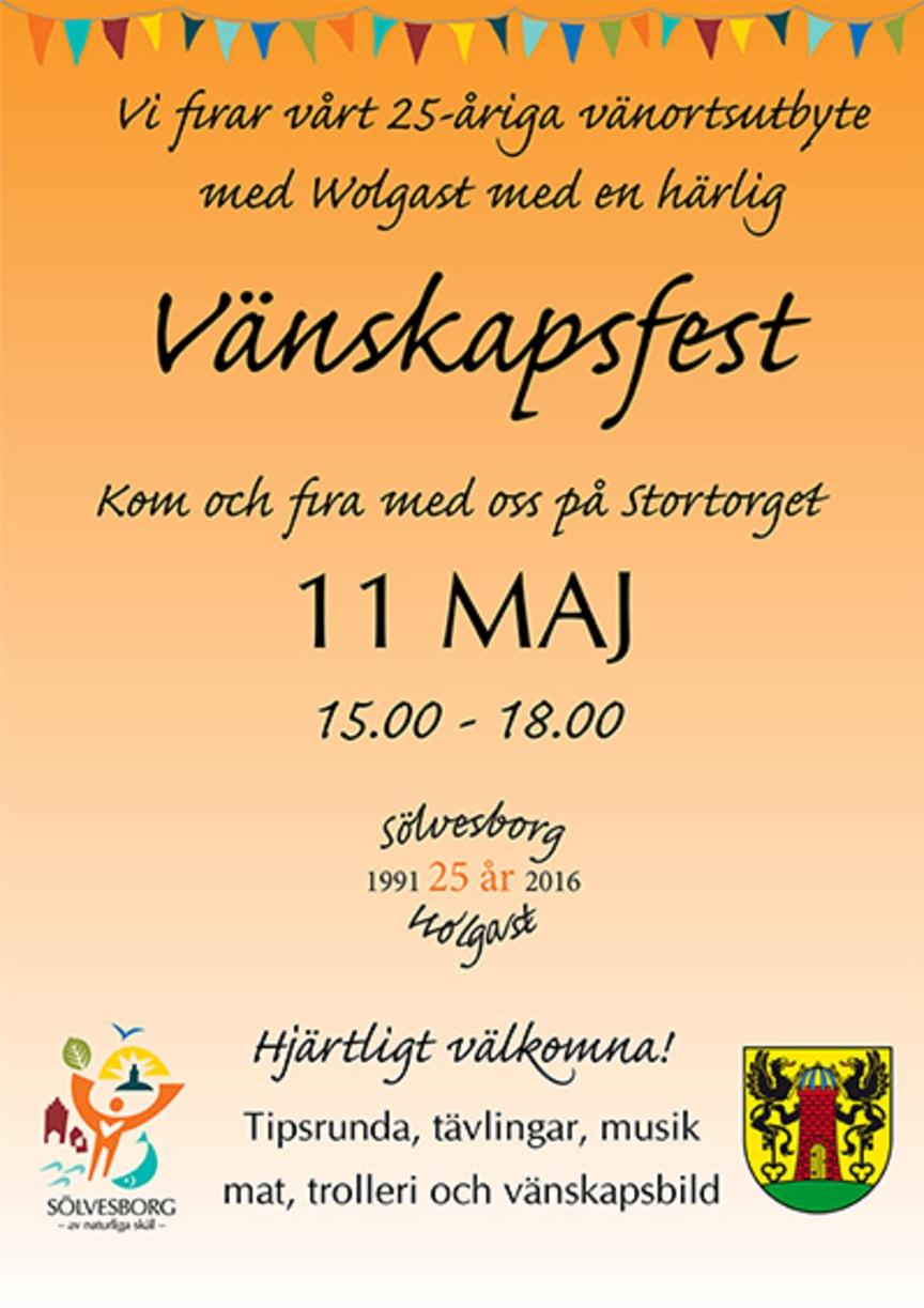 Affisch Vänskapsfest
