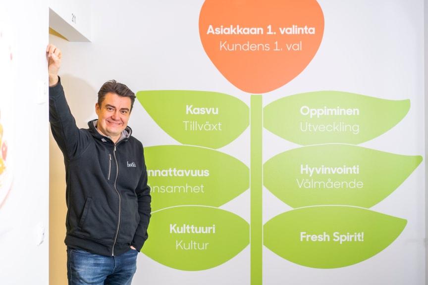 Sami Haapasalmi Fresh Servant Oy:n toimitusjohtaja