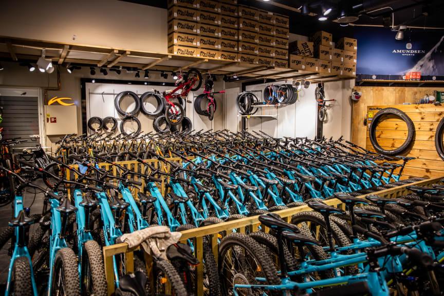 Populært med sykkelutleie