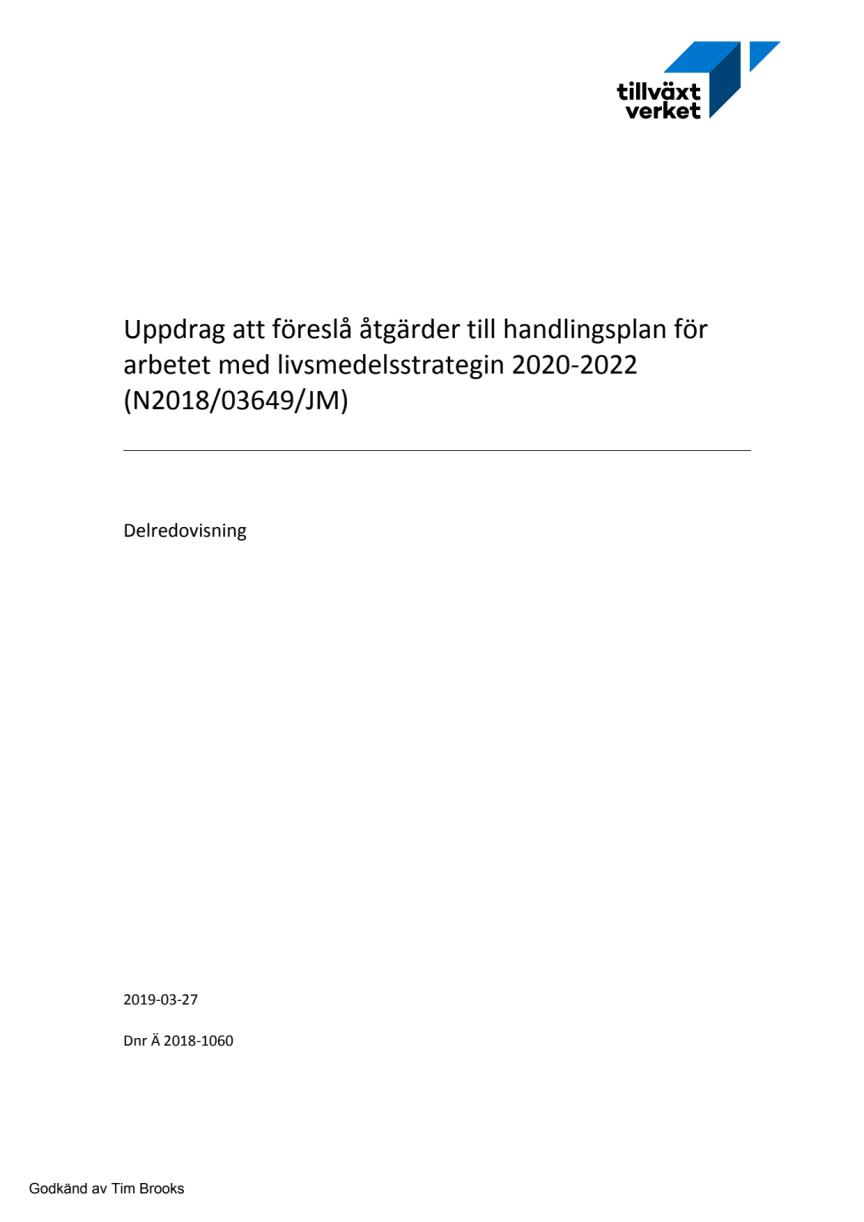 Handlingsplan för livsmedelsstrategin 2020-2022