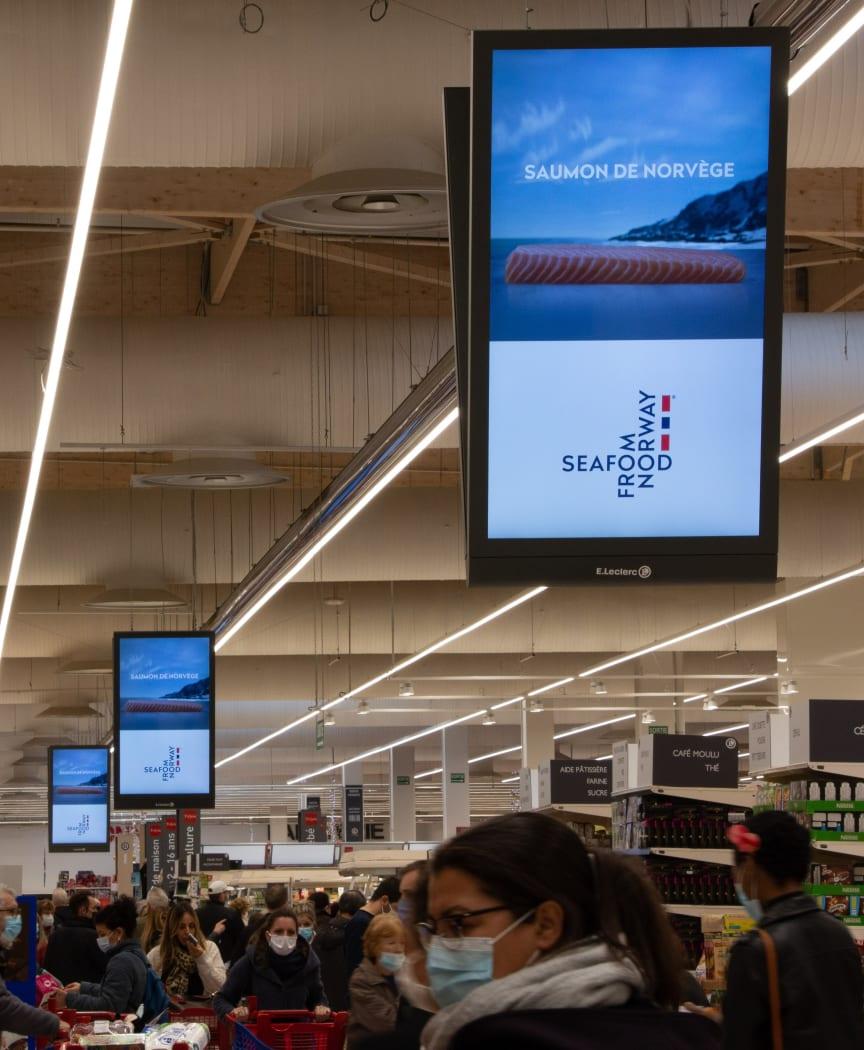 Laksekampanje butikk Frankrike